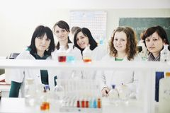 People Group In Lab Royalty Free Stock Photos