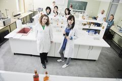 People Group In Lab Stock Image