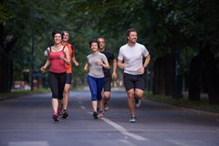 People group jogging Stock Images