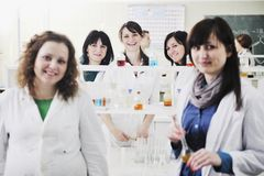 People group in lab Royalty Free Stock Photography