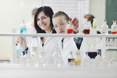 People group in lab Royalty Free Stock Photo