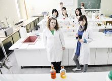 People group in lab Stock Photography