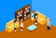 People Group In Modern Business Office, University Students Interior Campus Royalty Free Stock Images