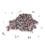People group shape map Belarus Royalty Free Stock Photos