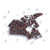 People group shape map Canada stock photo