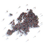 People group shape map Europe Stock Photography