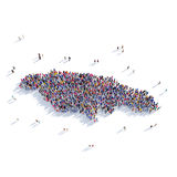 People group shape map Jamaica Stock Photo