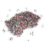People group shape map Lesotho Stock Photos