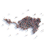 People group shape map Sint Maarten Royalty Free Stock Photography