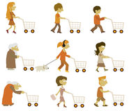 People group (shopping) Stock Image