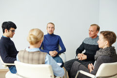 People in Group Therapy Circle Royalty Free Stock Image