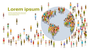 People Group World Map Social Network Communication Royalty Free Stock Photo