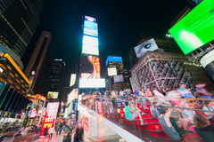 People and guests on night Times Square Royalty Free Stock Photos