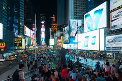 People and guests on Times Square Stock Images