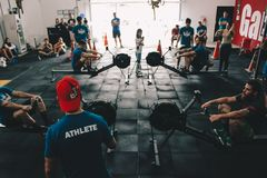 People in Gym Royalty Free Stock Photos