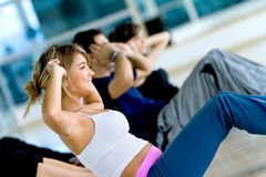 People at the gym Stock Photography