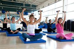 People at the gym Royalty Free Stock Photo