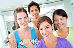 People at the gym Stock Images