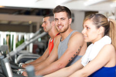 People in a gym Stock Image