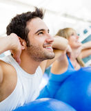 People at the gym Stock Photo