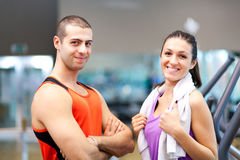 People in a gym Royalty Free Stock Photos
