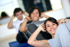 People at the gym Royalty Free Stock Photos