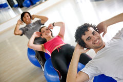 People at the gym Royalty Free Stock Images