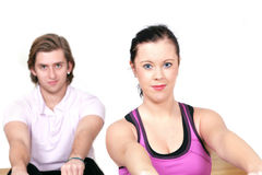People gym aerobics Stock Image