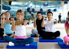 People at a gym class Stock Image