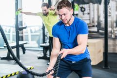People in gym doing sport in functional fitness training Stock Photo