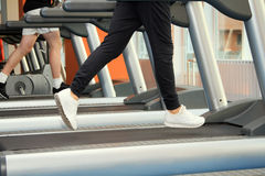 People at the gym exercising. Stock Images