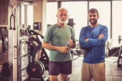 People at gym. Royalty Free Stock Photo