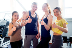People at gym thumbs up Stock Photography
