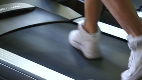 People in the gym treadmill cardio workout.  stock footage
