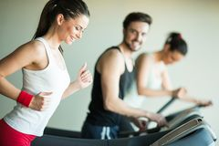 People in the gym Royalty Free Stock Photos