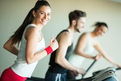 People in the gym Stock Photography