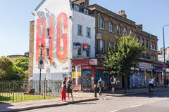 People on Hackney road in Bethnal Green, East London Royalty Free Stock Images