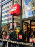 Lego store, leicester, lodon royalty free stock photography