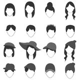 People hair icon Stock Images