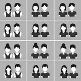 People hair icon Royalty Free Stock Photo
