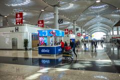 Hall at New International Istanbul Airport royalty free stock photo