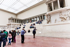 People in hall of Pergamon museum, Berlin Royalty Free Stock Image
