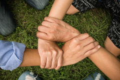 People Hand Assemble Corporate Meeting. Teamwork Concept Royalty Free Stock Photo