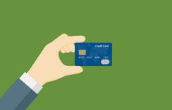People Hand Holding A Credit Card. People showing A Credit Card Royalty Free Stock Photos