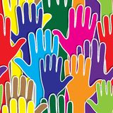 People hand like heart united seamless background. Royalty Free Stock Photography
