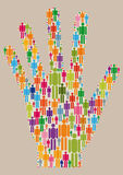 People_hand_two. Hand formed with many people icons Stock Photo