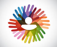 People hands and avatar illustration design Royalty Free Stock Images