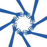 People hands background Royalty Free Stock Images