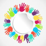 Colorful human hand circle Stock Photography