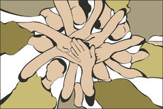People hands vector Royalty Free Stock Images